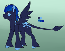 Size: 1149x909 | Tagged: safe, artist:the-dreepy-mom, oc, oc:cold winds, pegasus, pony, male, solo, stallion