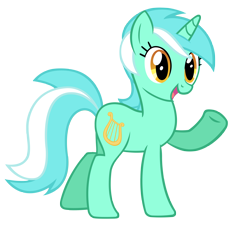 Size: 4000x3800 | Tagged: safe, artist:misterlolrus, lyra heartstrings, pony, unicorn, background pony, female, high res, mare, open mouth, raised hoof, simple background, solo, transparent background, vector