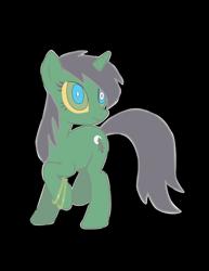 Size: 2153x2786 | Tagged: safe, artist:sonicgirl313, oc, oc:night green, unicorn, discorded, female, horn, looking back, mare, solo, unicorn oc