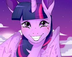 Size: 1742x1387 | Tagged: safe, artist:woollyart, twilight sparkle, alicorn, pony, solo, twilight sparkle (alicorn), watermark
