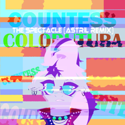 Size: 3000x3000 | Tagged: safe, artist:astril, coloratura, earth pony, pony, the mane attraction, album cover, countess coloratura, distortion, female, females only, looking at you, mare, piercing, the spectacle