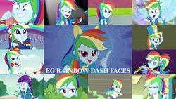 Size: 1280x721   Tagged: safe, edit, edited screencap, editor:quoterific, screencap, rainbow dash, dance magic, eqg summertime shorts, equestria girls, equestria girls (movie), equestria girls series, friendship games, legend of everfree, pinkie spy (short), rainbow rocks, run to break free, sic skateboard, sock it to me, sock it to me: bulk biceps, subs rock, super squad goals, wake up!, spoiler:eqg series (season 2), spoiler:eqg specials, awesome as i want to be, bass guitar, blushing, camp everfree outfits, chs rally song, close-up, clothes, cute, cutie mark, cutie mark on clothes, dance magic (song), dashabetes, faic, female, geode of super speed, hallway, helmet, helping twilight win the crown, hoodie, jewelry, lockers, magical geodes, musical instrument, necklace, open mouth, ponied up, rainbow dash is best facemaker, smiling, smug, smugdash, solo, spread wings, wake up!: rainbow dash, wall of tags, wings