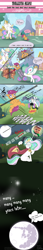 Size: 2000x11500   Tagged: safe, artist:mdwines, princess celestia, scootaloo, alicorn, pegasus, pony, absurd resolution, cape, clothes, comic, crying, duo, duo female, female, filly, mare, meme, moon, pony cannonball, ponyville, scootaloo can't fly, to the moon, trollestia, twinkle in the sky