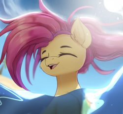 Size: 2137x1989   Tagged: safe, artist:jfrxd, fluttershy, pony, cute, eyes closed, high res, open mouth, open smile, shyabetes, smiling, solo