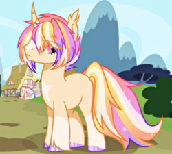 Size: 1280x1152 | Tagged: safe, artist:moonbatz, oc, pony, unicorn, curved horn, horn, male, solo, stallion
