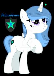 Size: 1280x1792 | Tagged: safe, artist:hate-love12, oc, oc:primadonna, pony, unicorn, female, mare, offspring, parent:fancypants, parent:fleur-de-lis, parents:fancyfleur, solo