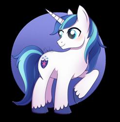 Size: 1280x1296   Tagged: safe, artist:nnaly, shining armor, pony, unicorn, blushing, cute, male, raised leg, shining adorable, simple background, smiling, solo, stallion