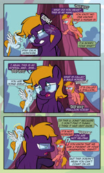 Size: 1920x3169   Tagged: safe, artist:alexdti, oc, oc:aqua lux, oc:purple creativity, oc:warm focus, pegasus, pony, comic:quest for friendship, angry, crying, female, glasses, mare, shoulder angel, shoulder devil, tears of anger