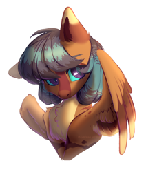 Size: 2800x3300   Tagged: safe, artist:avroras_world, oc, oc only, pegasus, pony, cute, female, mare, pegasus oc, request, requested art, wings