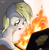 Size: 4000x4100 | Tagged: safe, artist:uteuk, derpy hooves, pegasus, pony, :o, absurd resolution, burning, computer, female, i just don't know what went wrong, laptop computer, mare, muffin, open mouth, solo