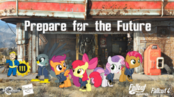 Size: 5360x3008   Tagged: safe, artist:concordisparate, artist:dashiesparkle, artist:luckreza8, artist:ponygamer2020, artist:sonofaskywalker, apple bloom, babs seed, gabby, scootaloo, sweetie belle, dog, earth pony, griffon, pegasus, pony, unicorn, fallout equestria, one bad apple, the fault in our cutie marks, absurd resolution, adorababs, adorabloom, apple bloom's bow, armor, bethesda, bow, brotherhood of steel, clothes, cute, cutealoo, cutie mark, cutie mark crusaders, diasweetes, dogmeat, fallout, fallout 4, female, filly, gabbybetes, group, hair bow, happy, hasbro, hasbro logo, jumpsuit, nuka cola, pipboy, power armor, prepare for the future, smiling, the cmc's cutie marks, vault 111, vault boy, vault suit, vector, wallpaper, workshop
