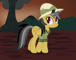 Size: 2348x1834 | Tagged: safe, artist:thatusualguy06, daring do, pegasus, pony, atg 2021, female, frown, hat, high res, looking back, mare, newbie artist training grounds, solo, vector, walking