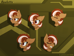 Size: 1600x1200   Tagged: safe, artist:willoillo, oc, oc only, oc:roulette, earth pony, pony, commission, earth pony oc, emotes
