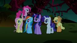 Size: 1280x720 | Tagged: safe, screencap, applejack, fluttershy, pinkie pie, rainbow dash, rarity, twilight sparkle, friendship is magic, mane six