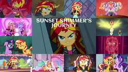 Size: 1280x721   Tagged: safe, edit, edited screencap, editor:quoterific, screencap, applejack, dj pon-3, flam, fluttershy, golden hazel, kiwi lollipop, pinkie pie, princess celestia, rainbow dash, rarity, sandalwood, sci-twi, spike, spike the regular dog, starlight glimmer, sunset shimmer, twilight sparkle, vinyl scratch, alicorn, bird, dog, human, parakeet, pony, unicorn, equestria girls, equestria girls (movie), equestria girls series, forgotten friendship, friendship games, game stream, legend of everfree, mirror magic, my past is not today, rainbow rocks, rollercoaster of friendship, sunset's backstage pass!, spoiler:eqg series (season 2), spoiler:eqg specials, angry, badass, bag, bass guitar, belt, big crown thingy, boots, camp everfree outfits, canterlot high, clothes, crying, cutie mark, cutie mark on clothes, drums, element of magic, equestria girls ponified, eyes closed, female, gamer sunset, gamershy, geode of empathy, glasses, headphones, humane five, humane seven, humane six, it's not about the parakeet, jacket, jewelry, journey, leather, leather jacket, magical geodes, male, mare, microphone, musical instrument, open mouth, ponied up, psycho gamer sunset, rageset shimmer, rainbow rocks outfit, regalia, saddle bag, shoes, singing, smiling, spike the dog, spread wings, sunset satan, tambourine, tell me what you need, the rainbooms, true original (song), twilight's castle, unicorn sci-twi, welcome to the show, wings