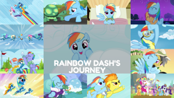 Size: 1280x722 | Tagged: safe, edit, edited screencap, editor:quoterific, screencap, applejack, bow hothoof, bulk biceps, daring do, derpy hooves, fluttershy, pinkie pie, rainbow dash, rarity, scootaloo, soarin', spitfire, tank, twilight sparkle, windy whistles, alicorn, earth pony, pegasus, pony, tortoise, turtle, unicorn, daring don't, equestria games (episode), friendship is magic, may the best pet win, newbie dash, parental glideance, rainbow falls, read it and weep, season 1, season 2, season 3, season 4, season 5, season 6, season 7, season 9, sleepless in ponyville, sonic rainboom (episode), tanks for the memories, the last problem, wonderbolts academy, spoiler:s03, spoiler:s09, ^^, applejack's hat, bed, bipedal, book, clothes, cloud, cowboy hat, crying, cute, cutealoo, dashabetes, duo, duo female, egghead, egghead dash, eyes closed, female, filly, flying, goggles, gritted teeth, hat, hospital, hospital bed, hug, male, mane six, mare, night, older, older rainbow dash, open mouth, rainbow, singing, smiling, solo, sonic rainboom, stallion, teeth, the magic of friendship grows, trio, twilight sparkle (alicorn), uniform, wonderbolts, wonderbolts uniform