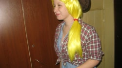Size: 2048x1149 | Tagged: safe, applejack, human, clothes, cosplay, costume, irl, irl human, my little konwent, photo, poland