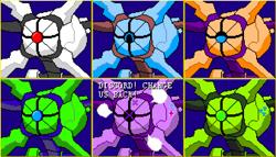 Size: 1344x768   Tagged: safe, artist:derek the metagamer, ocellus, sandbar, smolder, starlight glimmer, robot, 16bit, angry, aseprite, e3, metroid, metroid dread, metroid dread robot, nintendo, pixel art, pride month, recolor, species swap, that was fast, vein bulge