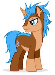 Size: 2532x3468 | Tagged: safe, artist:rioshi, artist:starshade, oc, oc only, oc:haron, pony, unicorn, base used, male, simple background, solo, stallion, white background