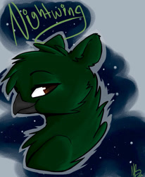 Size: 936x1136 | Tagged: artist needed, safe, oc, oc:umbra talons, griffon, 2016, ears, feral, griffon oc, head, night, no source available, smiling, smug, space