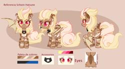 Size: 4272x2365 | Tagged: safe, artist:2pandita, oc, oc:schwin, pegasus, pony, female, mare, reference sheet, solo