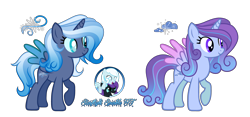 Size: 5980x2800 | Tagged: safe, artist:starflightsparkleyt, oc, oc only, oc:crystal flower, oc:nyx, oc:snowdrop, oc:snowy storm, alicorn, female, magical lesbian spawn, mare, offspring, parent:oc:nyx, parent:oc:snowdrop, parents:oc x oc, parents:snownyx, simple background, transparent background