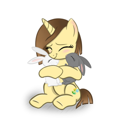 Size: 1024x1024 | Tagged: safe, artist:sundust, oc, oc only, pony, unicorn, blushing, cute, female, happy, horn, mare, simple background, sitting, smiling, solo, solo female, unicorn oc, white background