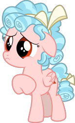 Size: 4185x6774 | Tagged: safe, artist:digimonlover101, edit, editor:slayerbvc, vector edit, cozy glow, pegasus, cozybetes, cute, female, filly, raised hoof, sad, simple background, solo, transparent background, vector, woobie