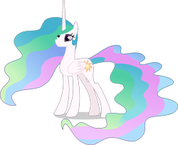 Size: 10057x8148   Tagged: safe, artist:thatusualguy06, princess celestia, alicorn, pony, absurd resolution, celestia day, female, mare, missing accessory, simple background, smiling, solo, transparent background, vector