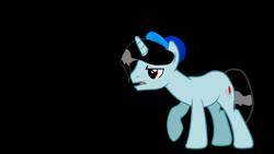 Size: 3200x1800 | Tagged: safe, artist:jakeneutron, oc, oc:jake neutron, unicorn, baseball cap, cap, hat, horn, male, simple background, solo, stallion, transparent background, unicorn oc, upset, wet, wet mane