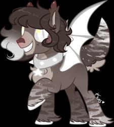 Size: 2181x2420 | Tagged: safe, artist:kurosawakuro, oc, bat pony, pony, male, simple background, solo, stallion, transparent background