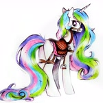 Size: 2646x2646   Tagged: source needed, safe, artist:liaaqila, princess celestia, alicorn, pony, bridle, butt, harness, looking back, plot, reins, saddle, simple background, smiling, solo, stirrups, sunbutt, tack, white background