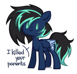 Size: 684x656 | Tagged: safe, artist:petruse4ka, oc, oc only, pegasus, pony, pegasus oc, simple background, smiling, solo, talking, transparent background, two toned wings, wings