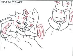 Size: 832x640   Tagged: safe, artist:cmara, base, bed, giving birth