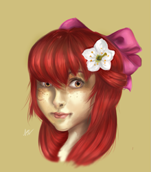 Size: 623x708 | Tagged: safe, artist:nayra-the-wolf, apple bloom, human, humanized, solo