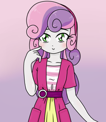 Size: 640x740 | Tagged: safe, artist:batipin, sweetie belle, equestria girls, solo