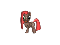 Size: 1200x900 | Tagged: safe, artist:mrbarney94, babs seed, earth pony, pony, g1, g4, 3d, 3d pony creator, bully, evil, evil laugh, female, filly, freckles, g4 style, laughing, narrowed eyes, open mouth, ponylumen, simple background, transparent background