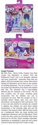 Size: 464x1528 | Tagged: safe, izzy moonbow, pony, unicorn, g5, box, female, hand, hasbro logo, hazard, logo, my little pony logo, number, simple background, text, toy, vanity, warning, white background