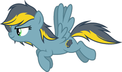 Size: 1097x646 | Tagged: safe, artist:pegasski, oc, oc:conquering storm, pegasus, pony, female, mare, simple background, solo, transparent background