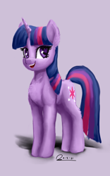 Size: 1600x2560 | Tagged: safe, artist:raphaeldavid, twilight sparkle, pony, unicorn, atg 2021, newbie artist training grounds, open mouth, solo, unicorn twilight
