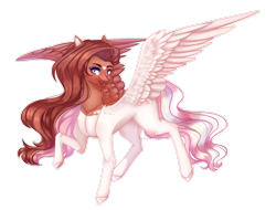 Size: 2604x1984   Tagged: safe, artist:honeybbear, oc, pegasus, pony, female, high res, mare, simple background, solo, transparent background
