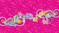 Size: 2560x1440 | Tagged: safe, applejack, fluttershy, pinkie pie, rainbow dash, rarity, twilight sparkle, alicorn, earth pony, pegasus, pony, unicorn, cutie mark magic, female, twilight sparkle (alicorn), youtube banner
