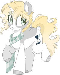 Size: 1337x1668 | Tagged: safe, artist:cinnamontee, oc, oc:ren, pony, unicorn, clothes, male, scarf, simple background, solo, stallion, transparent background