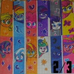 Size: 1536x1541 | Tagged: safe, artist:karadeg, applejack, fluttershy, pinkie pie, princess cadance, princess celestia, princess luna, rainbow dash, rarity, starlight glimmer, sunset shimmer, trixie, twilight sparkle, pony life