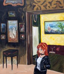 Size: 2183x2504   Tagged: safe, artist:agaberu, artist:agavoart, artist:fatima pecci carou, sunset shimmer, equestria girls, painting, plagiarism, traditional art