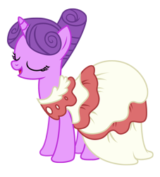 Size: 2603x2867 | Tagged: safe, artist:three uncle, north star, pony, unicorn, make new friends but keep discord, background pony, clothes, dress, eyes closed, female, gala dress, mare, open mouth, simple background, smiling, solo, transparent background, vector