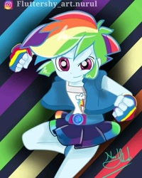 Size: 639x798   Tagged: safe, artist:fluttershy_art.nurul, rainbow dash, equestria girls, female, powerpuff girls z, solo