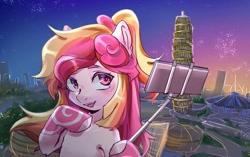 Size: 688x433 | Tagged: artist needed, safe, oc, oc:豫珑, china, henan brony festival, mascot, solo, zhengzhou