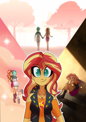 Size: 3500x4953 | Tagged: safe, artist:light262, sunset shimmer, oc, equestria girls, clothes, holding hands