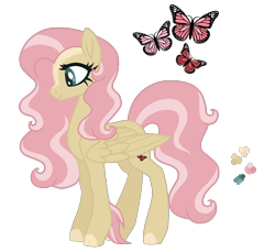 Size: 1800x1649 | Tagged: safe, artist:magicuniclaws, oc, hybrid, female, magical lesbian spawn, offspring, parent:fluttershy, parent:rain shine, simple background, solo, transparent background, wings